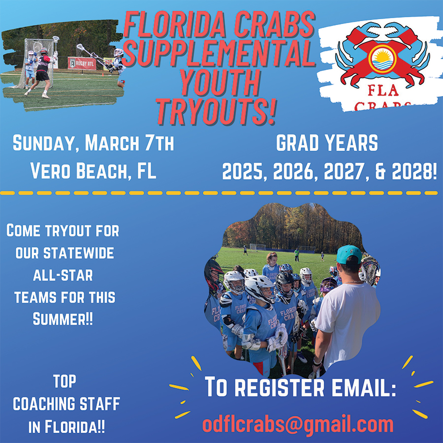 Florida Crabs Supplemental Youth Tryouts 3.7.21